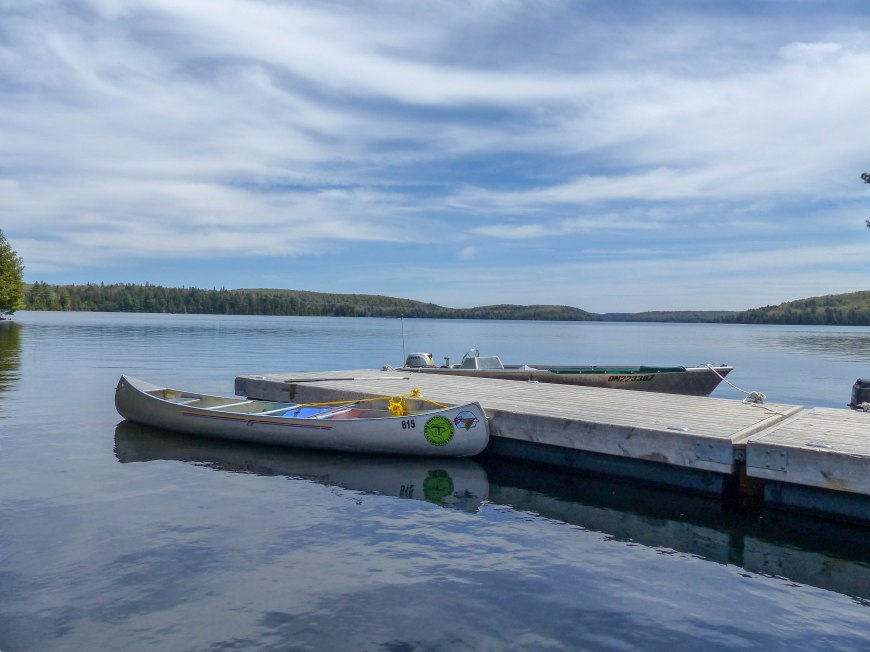 Algonquin canoe May 2018